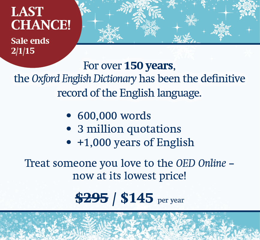 Oxford English Dictionary Promotion