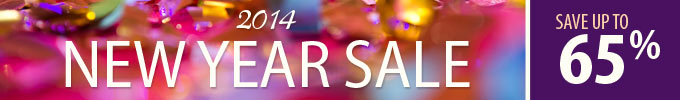 New Year Sale 2014: Save up to 65%