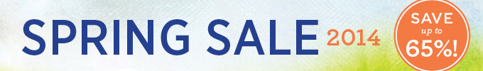 Spring Sale 2014: Save up to 65%